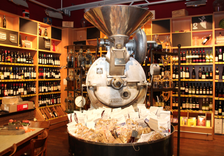 Große Kaffee- und Teeauswahl