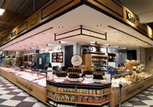 Große Wurst-Käse-Fleischtheke