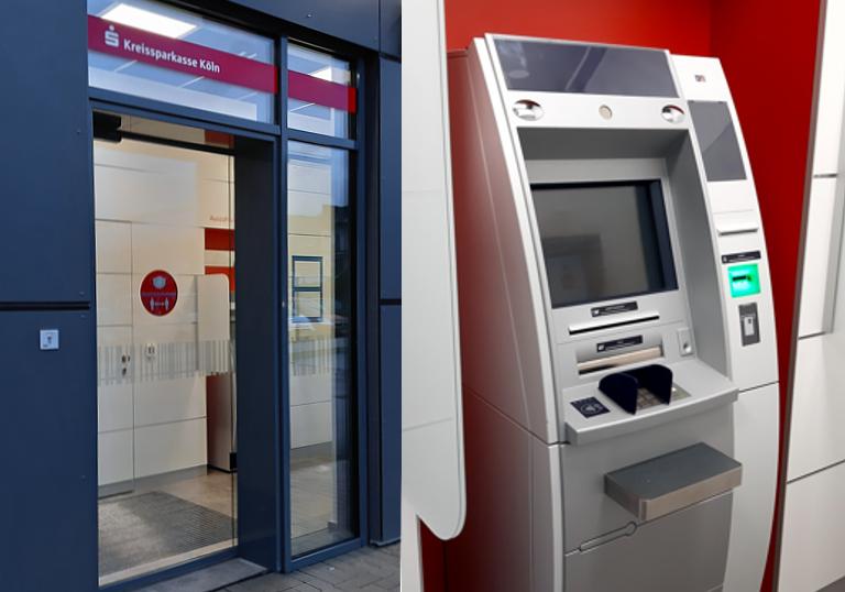 Von außen erreichbar - Kreissparkassen Geldautomat